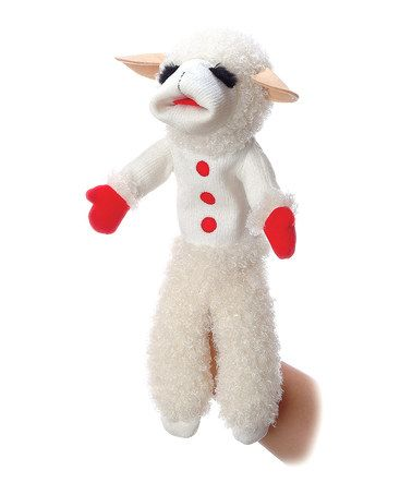 """17"""" Talking Lamb Chop Puppet. Little ones will love pretending and playing with this talking Lamb Chop puppet! Featuring a snuggly-soft construction and 10 sweet phrases, it's perfect for retelling stories and adventures from the classic children's show! $12.99"""