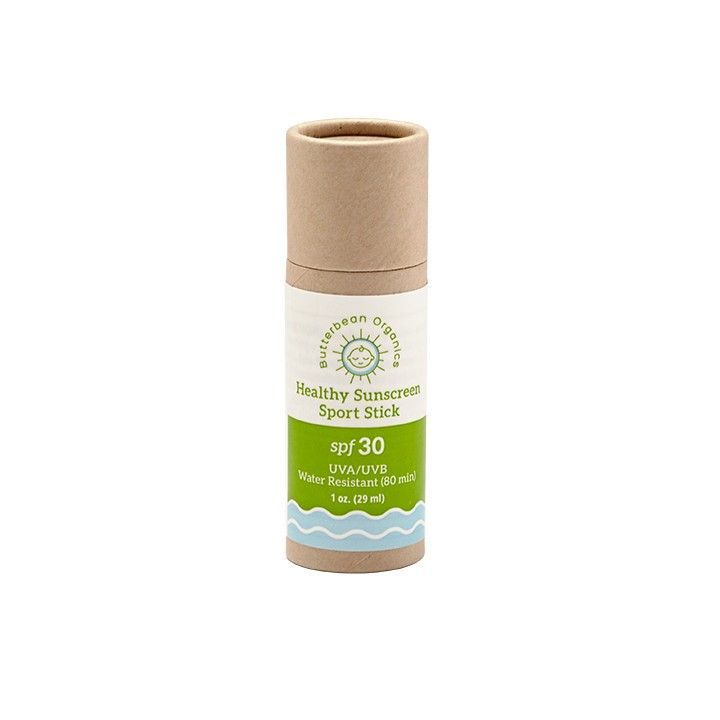 Biodegrable, plastic free, natural, organic, ocean friendly sunscreen! Butterbean sport sun protection from the zero waste Life without plastic shop