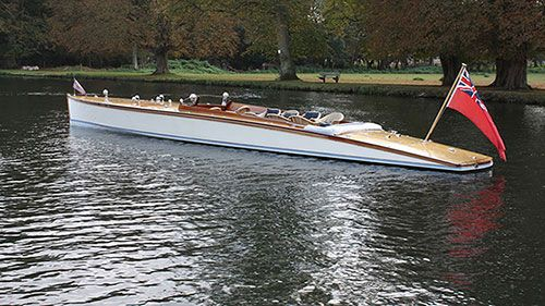 Classic boat called the baby greyhound. Peter Freebody River Craft