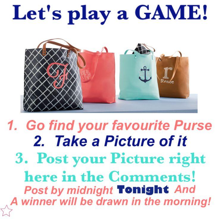 Interactive purse game for Facebook VIP group. Thirty-One spring/summer 2018 www.mythirtyone.ca/sabrinawhite