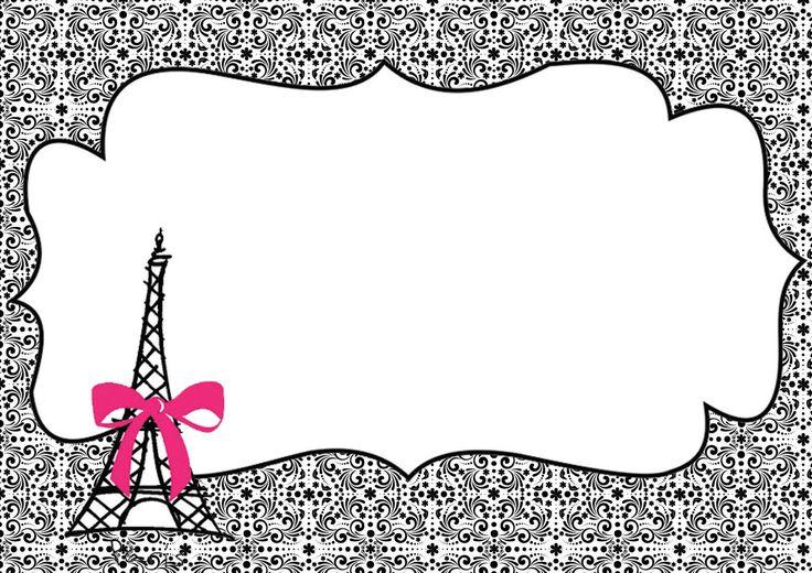 Princesas de Branco: Kit Festa 15 Anos ou Casamento Tema Paris (Para Imprimir Grátis)