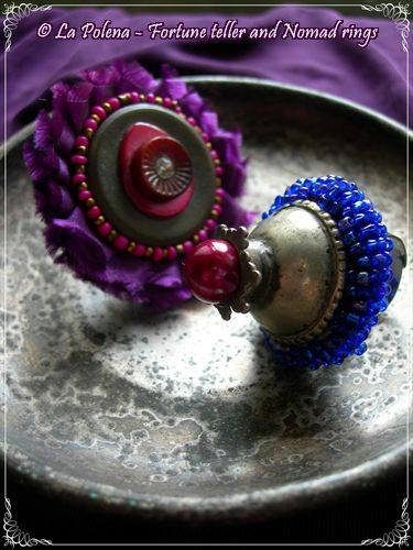 https://flic.kr/p/Pf3xSW | Fortune teller and Nomad rings | Hand made adjustable rings. Tribal fusion belly dance style