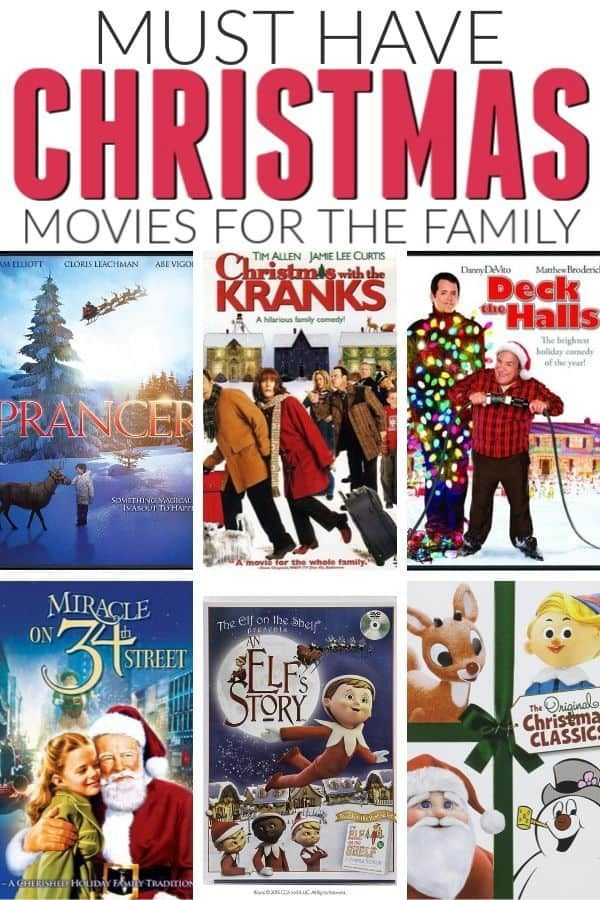 Must Have Christmas Movies Kids Christmas Movies Family Christmas Movies Christmas Movies