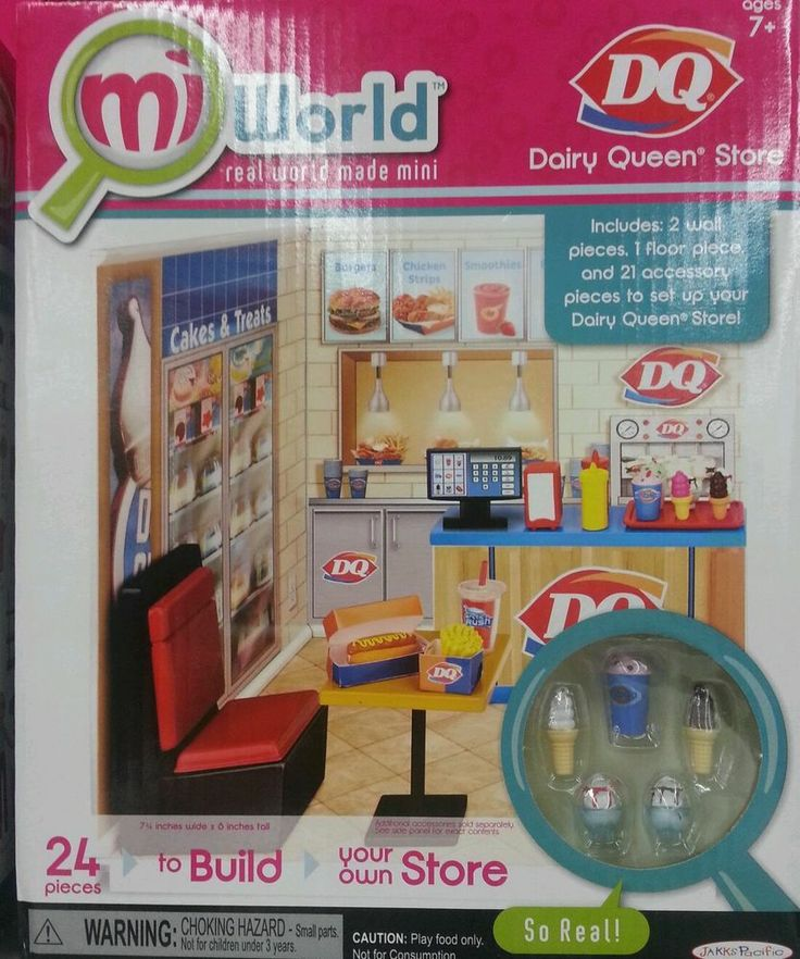 MIWORLD REAL WORLD BUILDING PLAYSET  - DAIRY QUEEN STORE - MI WORLD MINI!!