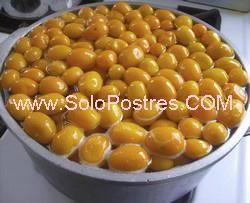 Dulce de quinotos o quinotos en almíbar