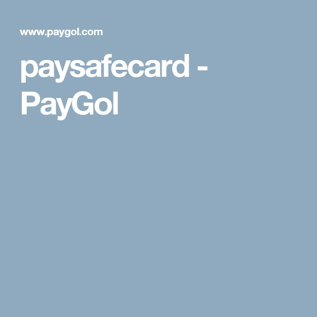 paysafecard - PayGol
