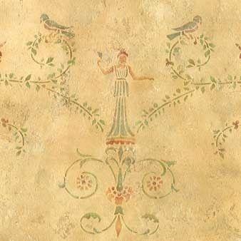 Wall Stencils   Pompeii Panel Stencil   Royal Design Studio