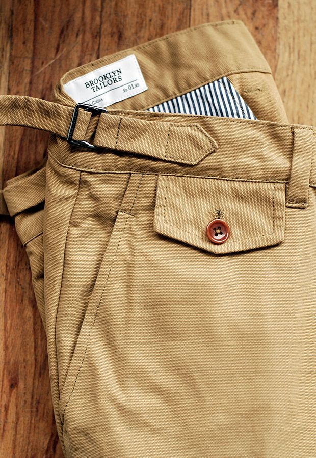 I'm a sucker for pants with tabs and a watch pocket | Brooklyn Tailors fw12