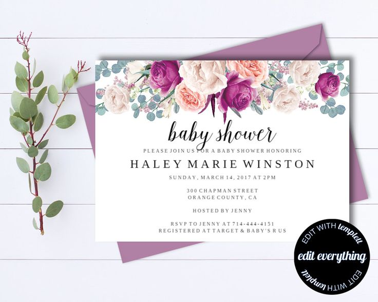 25 best ideas about Baby Shower Invitation Templates – Editable Baby Shower Invitations