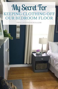 I was so sick of having clothing piled up all over our bedroom floor. This…