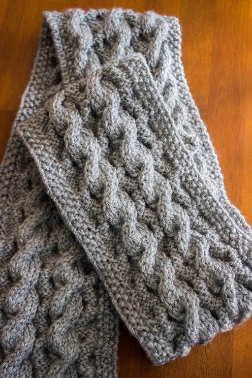 "Wonderful student project from Craftsy class ""Explorations in Cables""  Check out First Project: Two Sided Cable Scarf by member Anie518."