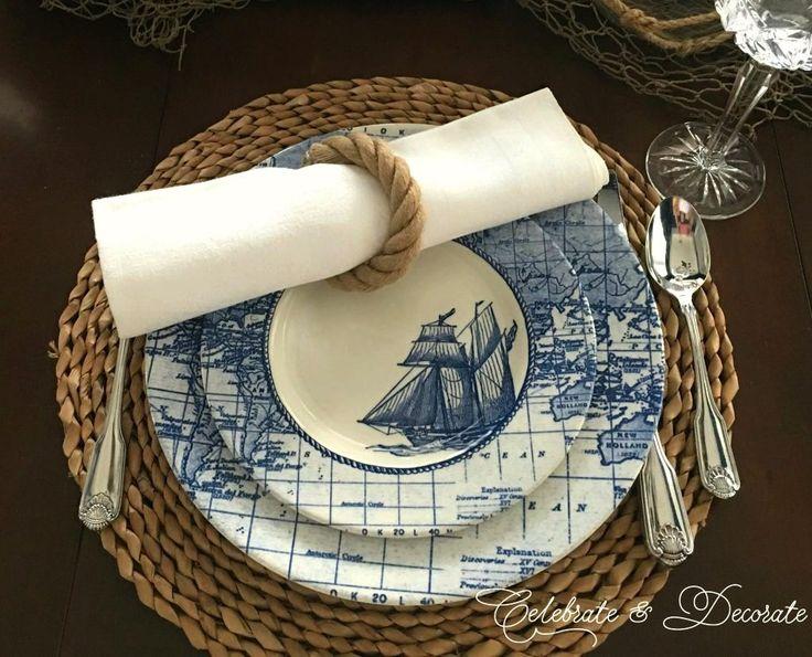 Old World Nautical Tablescape - Celebrate & Decorate