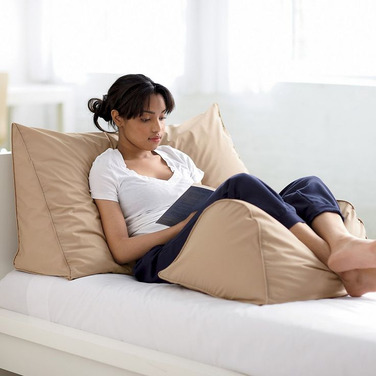 I freaking need this! Reading Wedge Pillow, Firm, 95% Feather / 5% Down | The Company Store