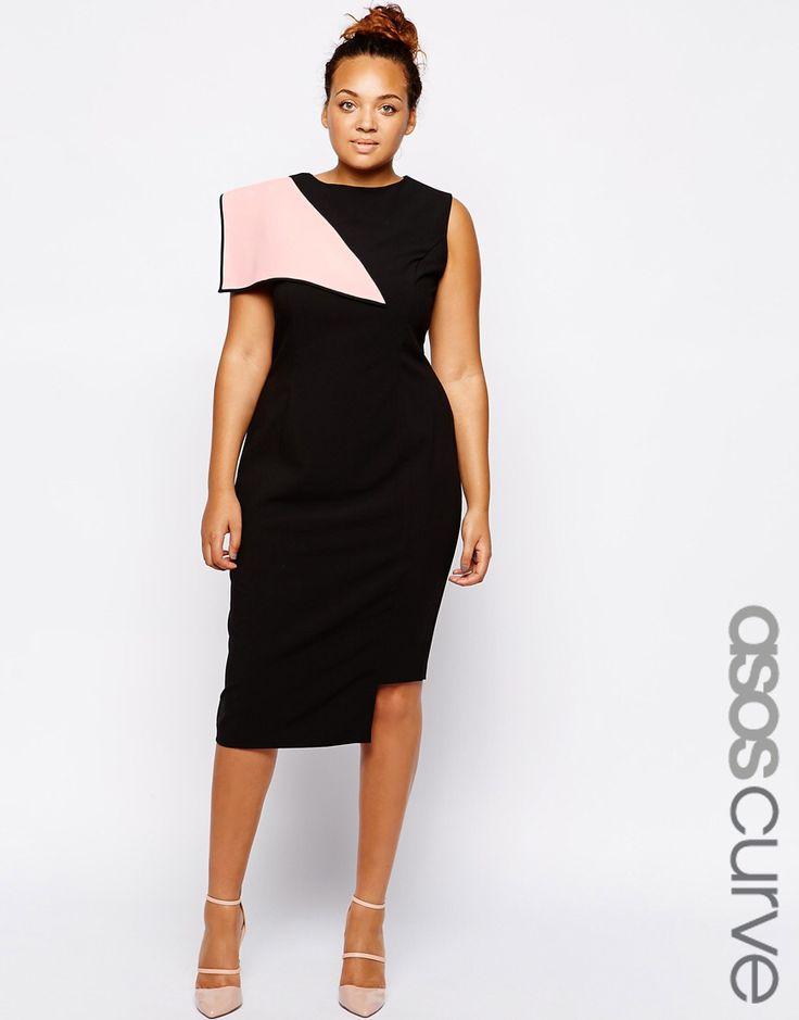 curve exklusives kleid mit origamifalte tipps und mode. Black Bedroom Furniture Sets. Home Design Ideas