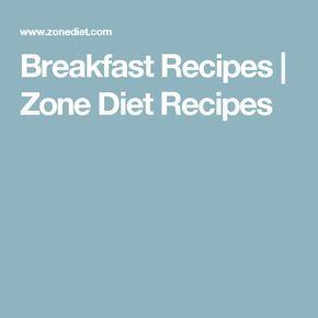 Breakfast Recipes   Zone Diet Recipes