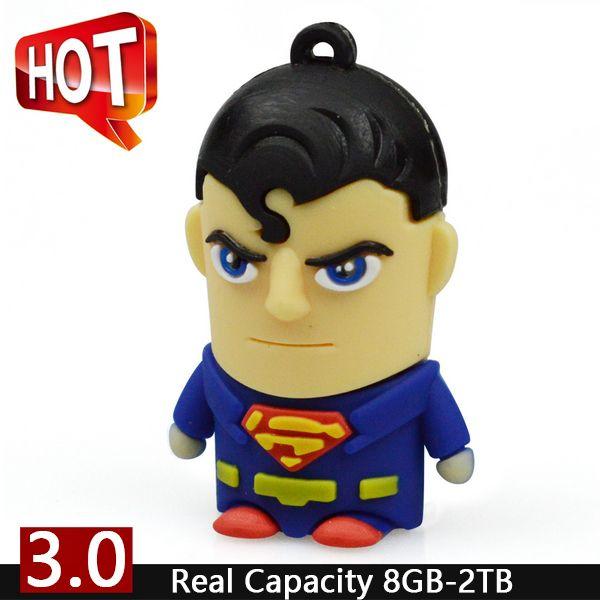 USB 3.0 Pendrive Cartoon Superman Cute Usb Flash Drive 64GB 32GB 16GB 8GB Full Capacity Pen Drive 512GB Pendriver Drives Gift //Price: $8.99 & FREE Shipping //     #hashtag2