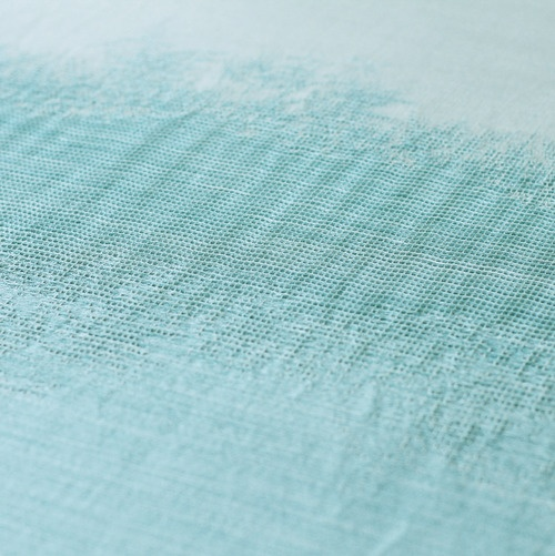 Jacquard woven fabric by Stine Linnemann. Silk and linen. Exhibited at Salone…