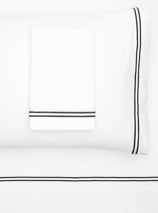47% OFF Garnier-Thiebaut Nice Hotel Style Sheet Set (White/Black)
