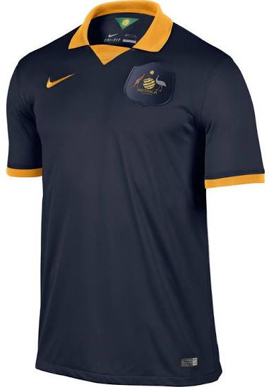 Australia 2014 World Cup Home and Away Kits Released - Footy Headlines
