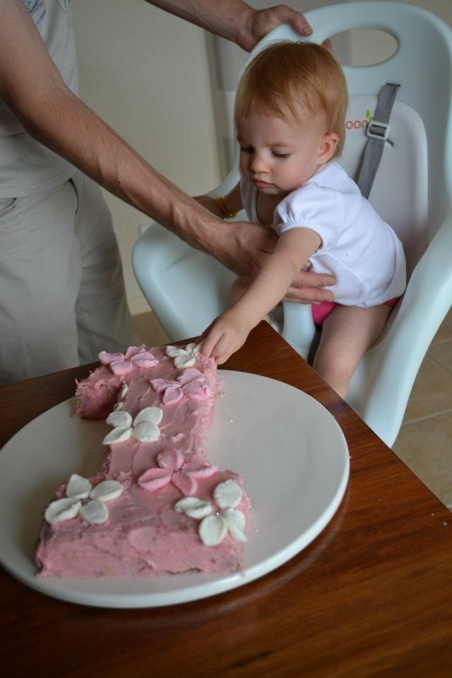 M's 1st birthday cake