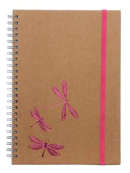 Sharing WHSmith Kraft Dragonfly A5 Wide Ruled Notebook from WHSMITH