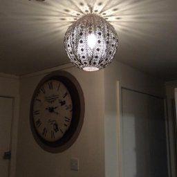 30cm Moroccan metal globe pendant bronze effect easy fit ceiling light decoration: Amazon.co.uk: Kitchen & Home