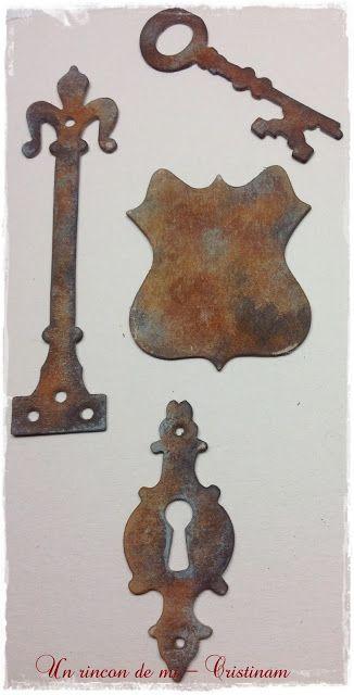 Un rincón de mi: Tutorial como decorar piezas aspecto metálico