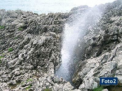 Fotos de los Bufones de Arenillas. Vidiago (Asturias)