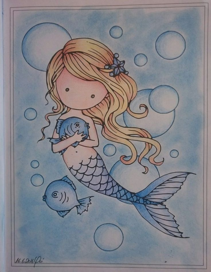 Whimsical Mermaid #adultcoloring #mollyharrison #arttherapy