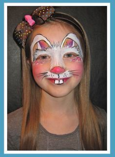 Bunny Face Paint. Bunny design  Face Painting by Jenn 21 best farm animals images on Pinterest paintings Farm