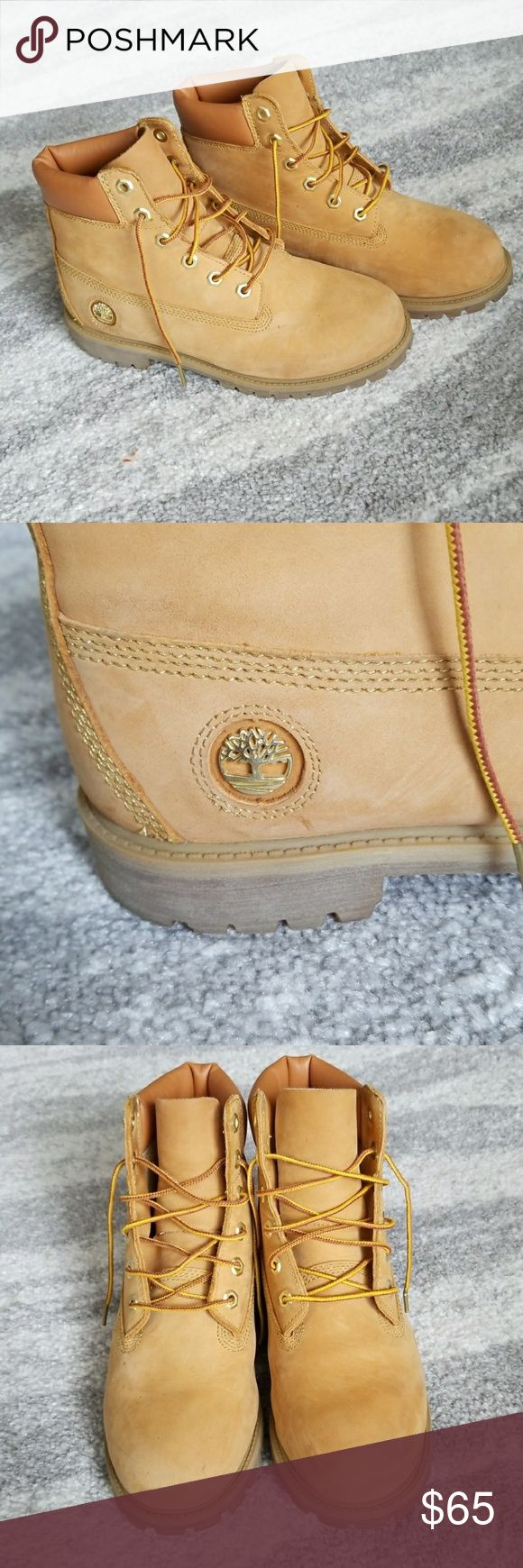 LOWEST PRICE! Women's Timberland boots Very good condition women's timberlands in tan. Very durable and matches all colors! Pair with jeans, shorts, or leggings for a long day of walking. Timberland Shoes