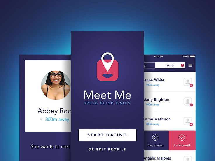 Meet Me - iOS Speed Dating by Piotr Kmita for EL Passion