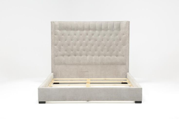 """Madeline California King Upholstered Panel Bed - 360  Dimensions: 80""""W x 96""""D x 64""""H  SKU#: 87452"""
