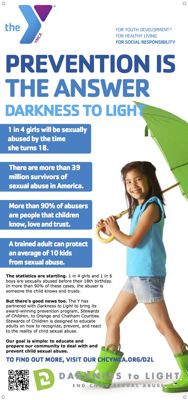 Prevention is the Answer to child sexual abuse. We're proud to be working with Darkness to Light.