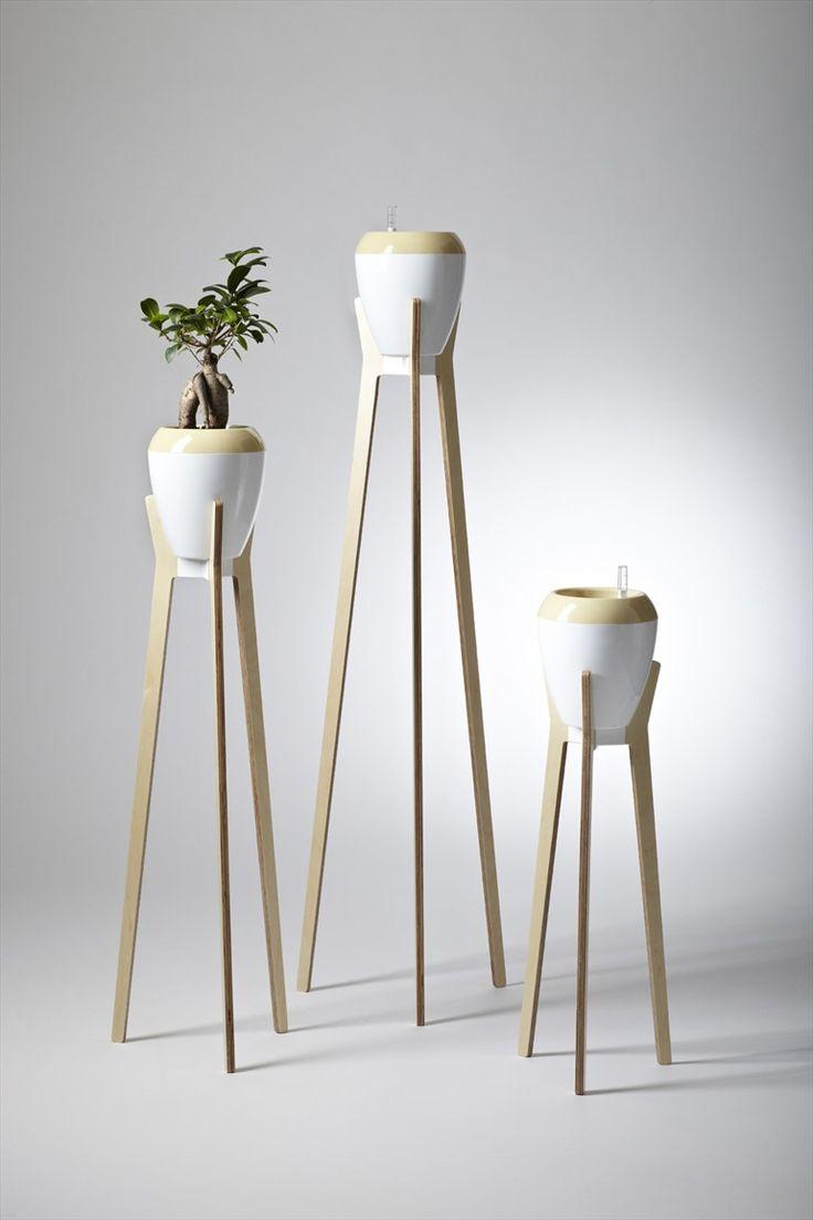 Wooden plant pot BAOBAB by Boa Design   design Petr Mikosek