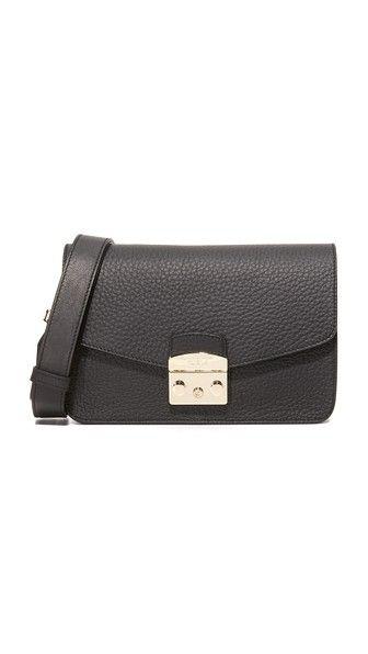 FURLA Metropolis Small Shoulder Bag. #furla #bags #shoulder bags #leather #