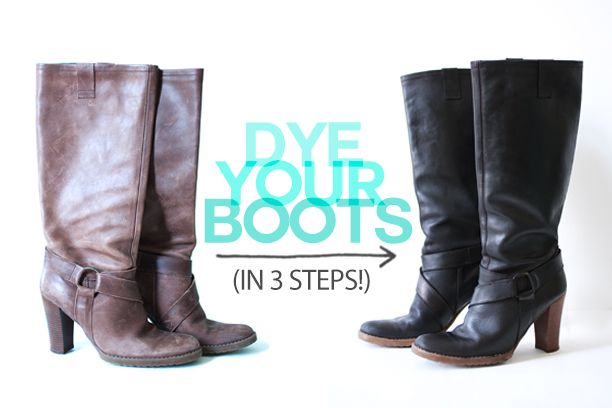 How To Dye Your Leather Boots | The Band Wife