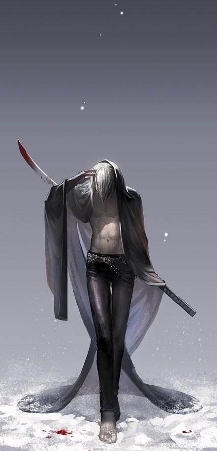 Looks like a... freaky Grim Reaper concept of James. O.o