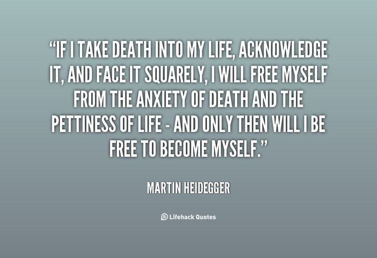 Martin Heidegger ~ sought to ameliorate existential angst by embracing death...does he address the pain of walking through life meaninglessly? Does he address the pain of self-awareness and the absurdity of existence? Why do I long for meaning? What is the source of this longing?