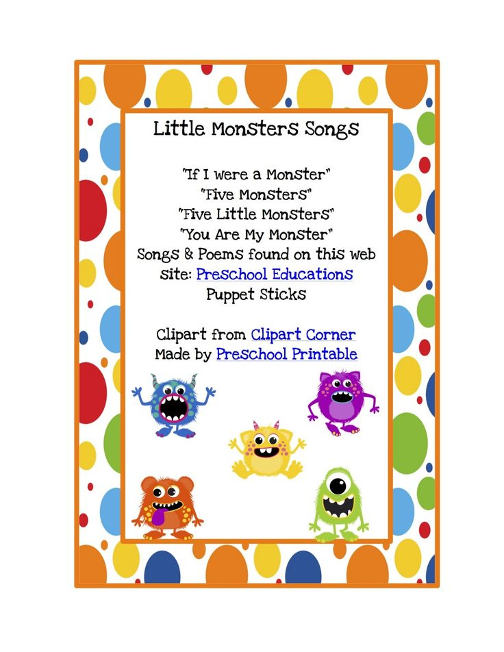 Free Monster Songs & Puppet Sticks