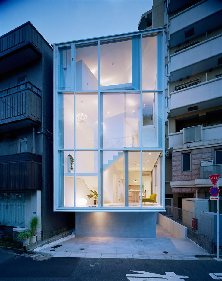 Life in spiral, Tokyo, 2012 by Hideaki Takayanagi #architecture #japan #house #glassResidential Architecture, Hideaki Takayanagi, Dreams Home, House Design, Tokyo Japan, Glasses Wall, Modern Architecture, Projects Life, Modern House