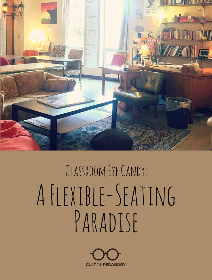 Flex-Seating in the High School Classroom. Good examples for teachers wanting to try this change.