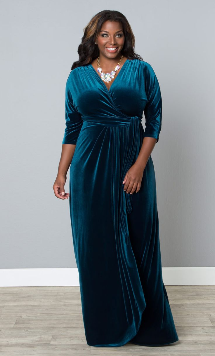 Go formal, but comfortable in our plus size Velvet Luxe ...