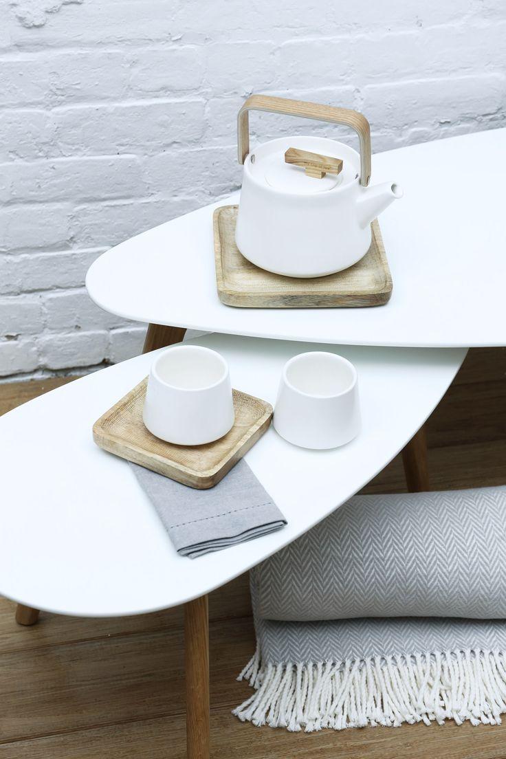 Table à café Avanti / theière Elegant / Esprit scandinave
