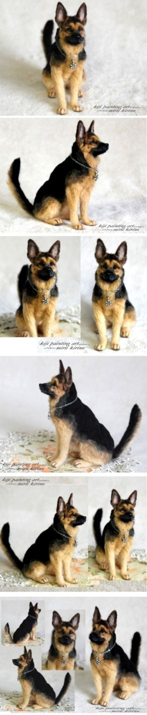 Super real needle felted dogs German Shepherd Dog  Yahoo!ブログ - 画像表示