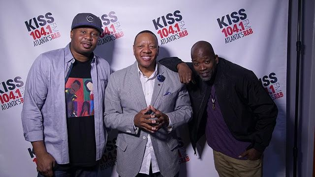 Art Terrell (c.) and Roy Wood, Jr. (l.) with sidekick Zooman, are now the new morning drive hosts at Atlanta's Kiss 104.1. The duo form...