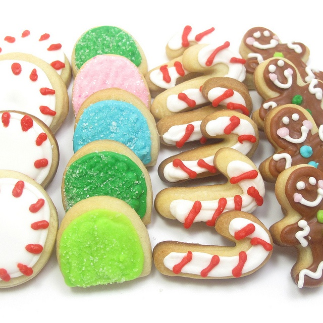 mini Christmas candy cookies 3 by thedecoratedcookie, via Flickr