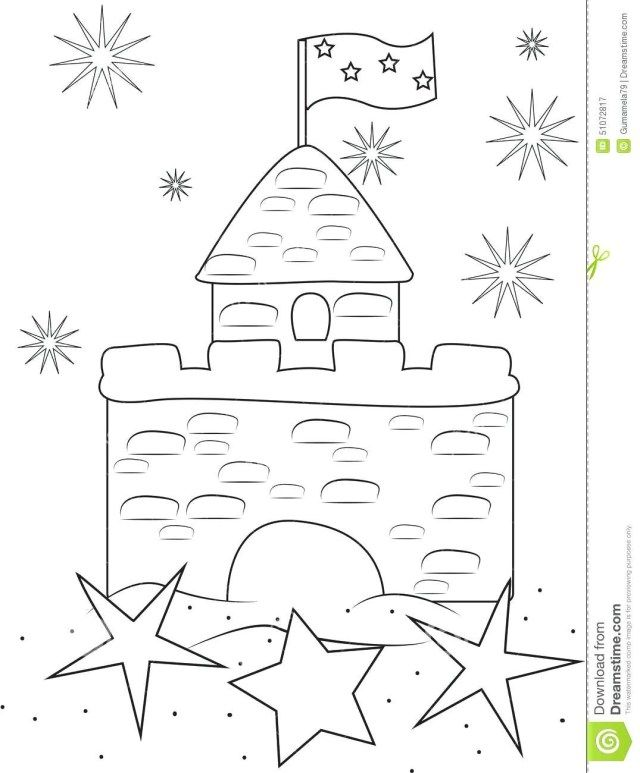 Pin By Shaina Wang On Drawing Tonight Castle Coloring Page Sand