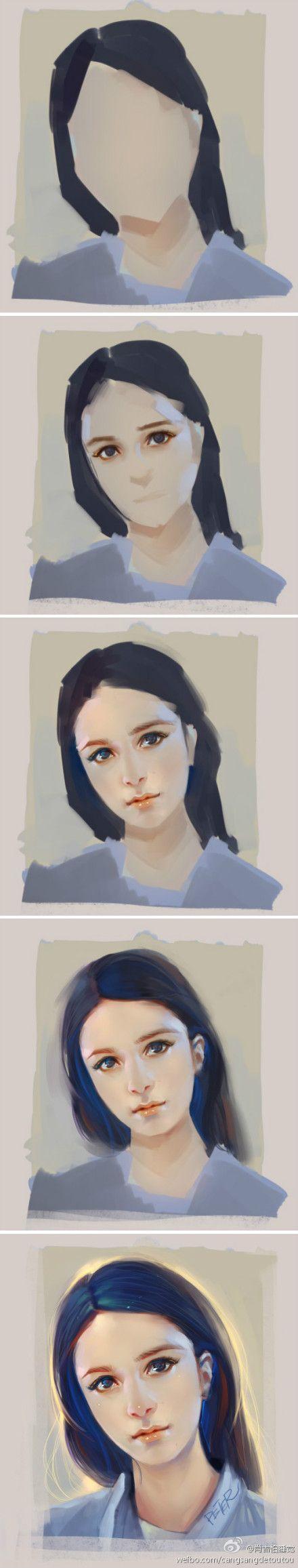 【作画教程】美图头像作画教程一枚~作者@...