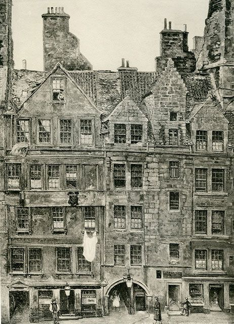 Old houses in edinburgh drawing by bruce j home brodie for Classic house edinburgh